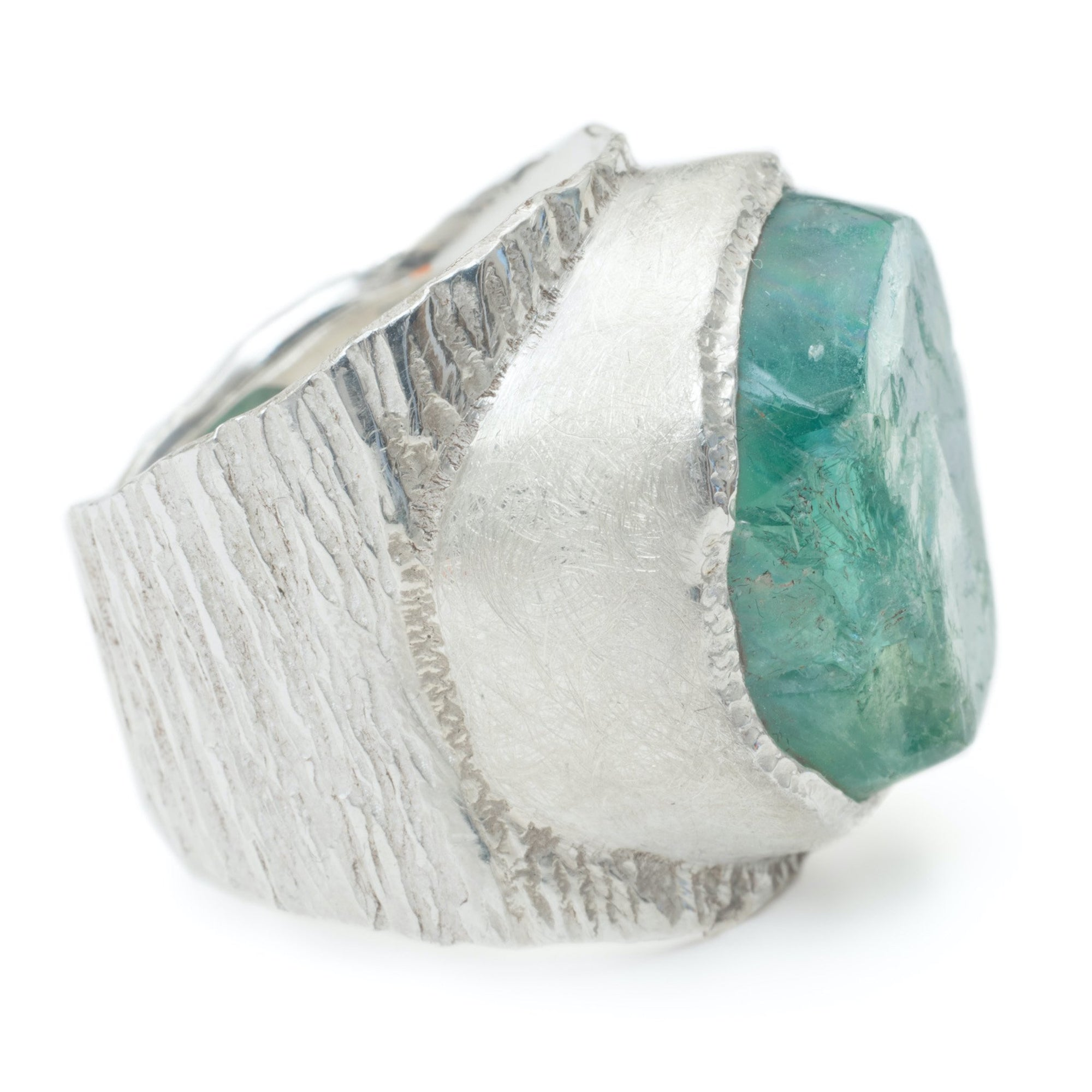 'Genesis' Green Fluorite Macho Ring