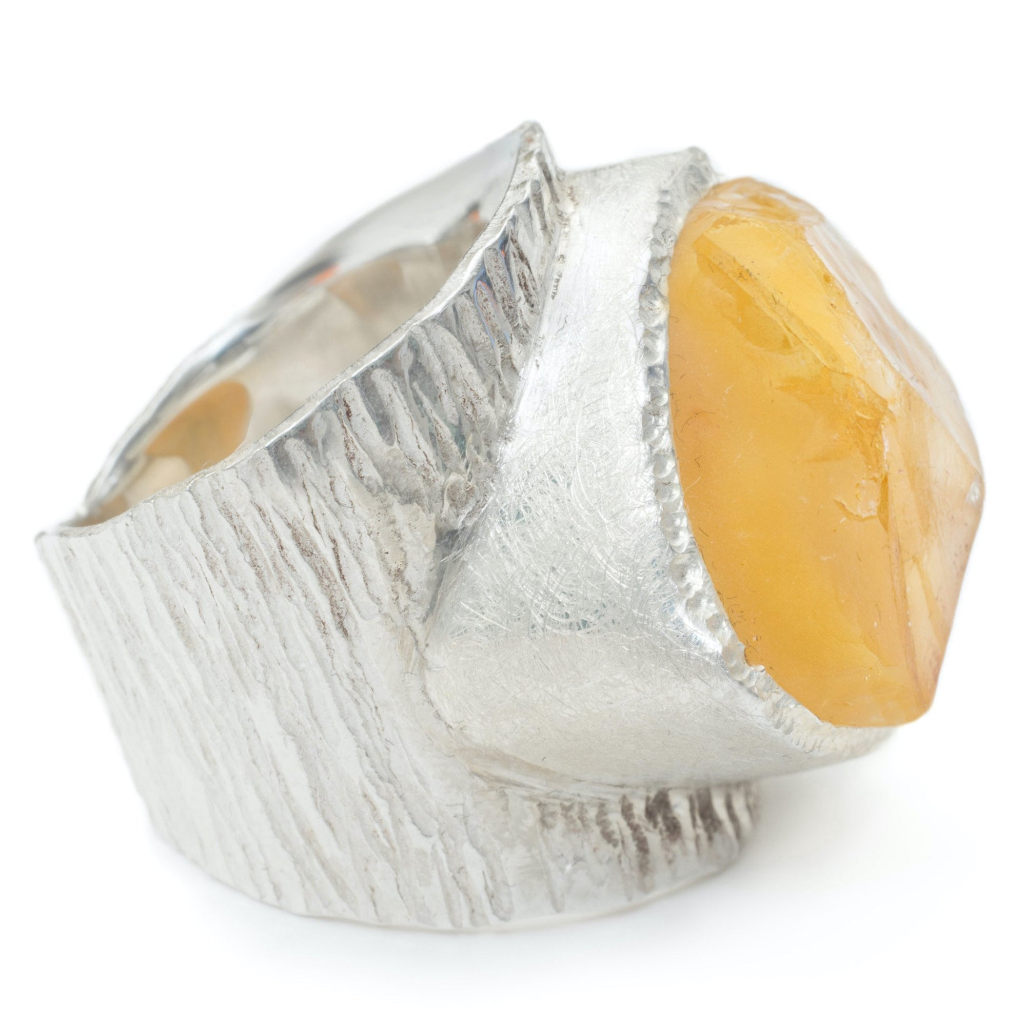 'Hustle' Citrine Macho Ring - Large Stone