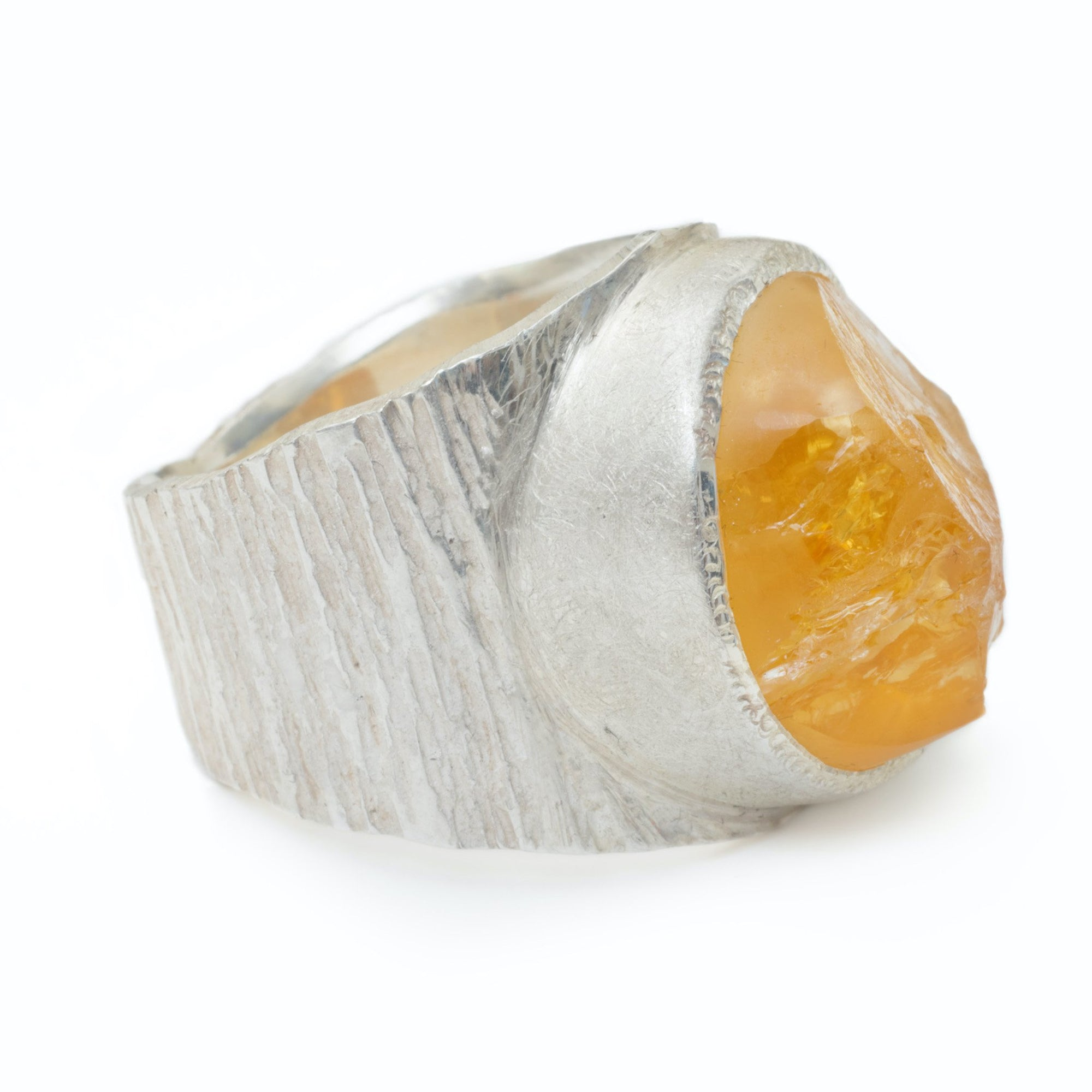 'Hustle' Citrine Macho Ring