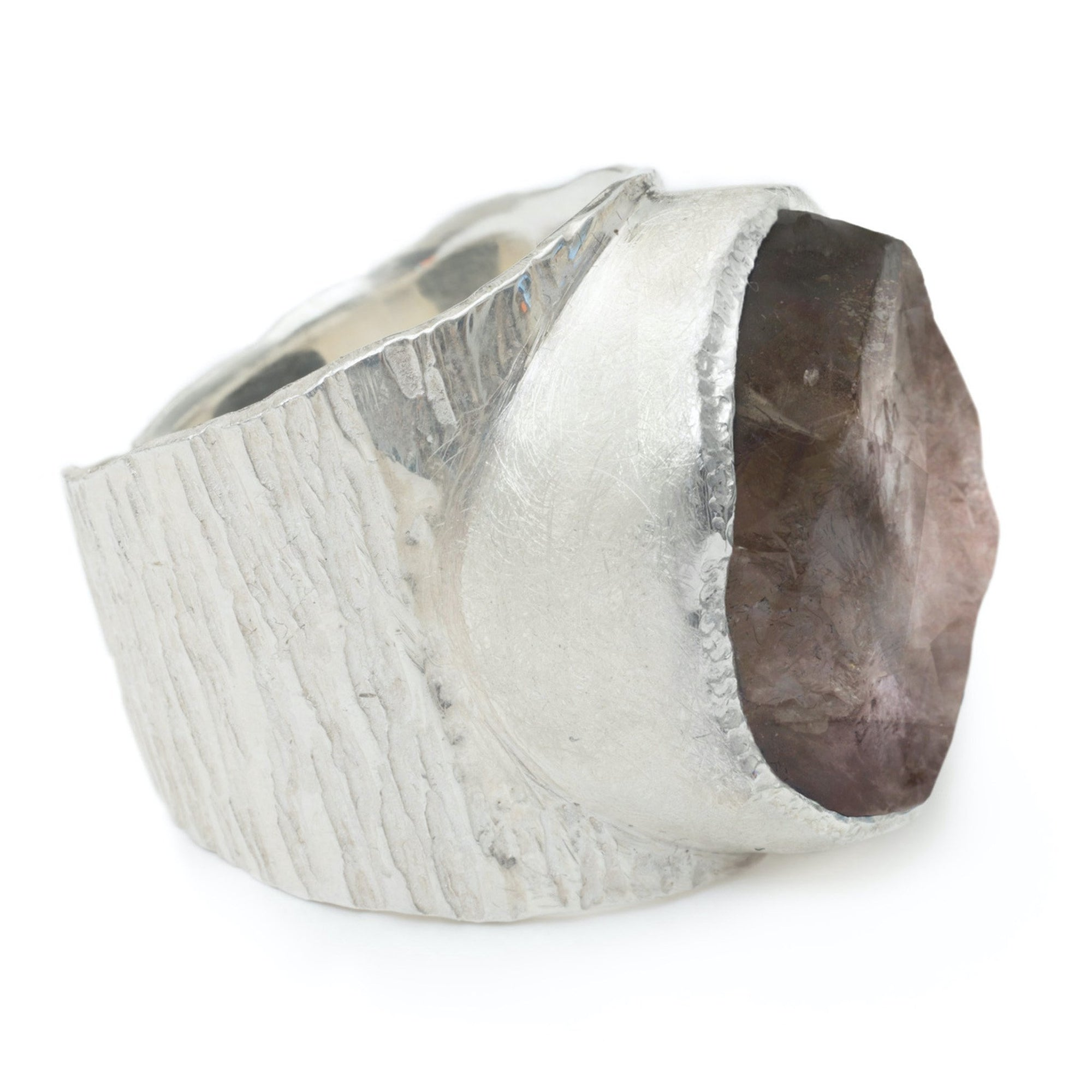 'Enigma' Smoky Quartz Macho Ring - Large Stone