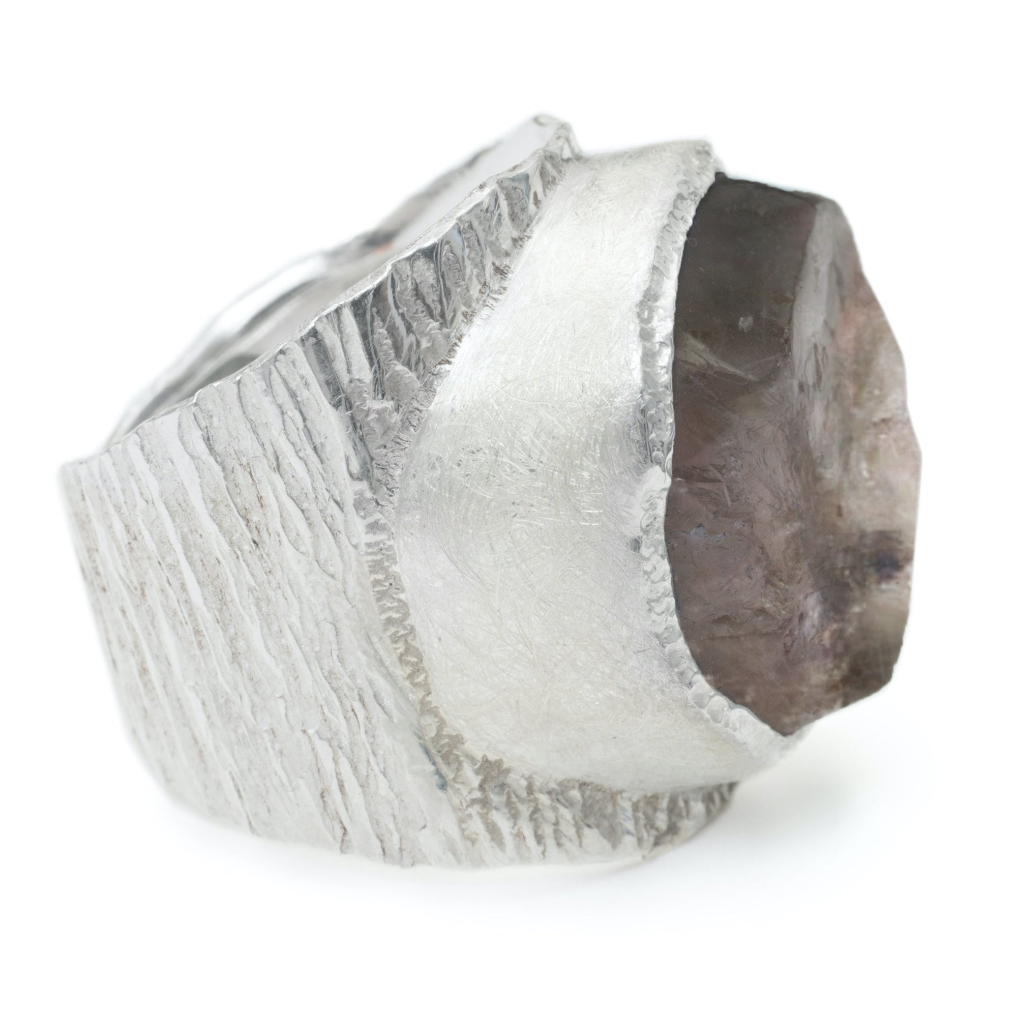'Enigma' Smoky Quartz Macho Ring