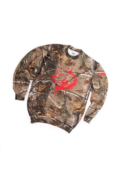 Camo and Red Pullover M