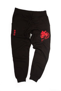 Black and Red Sweats XL