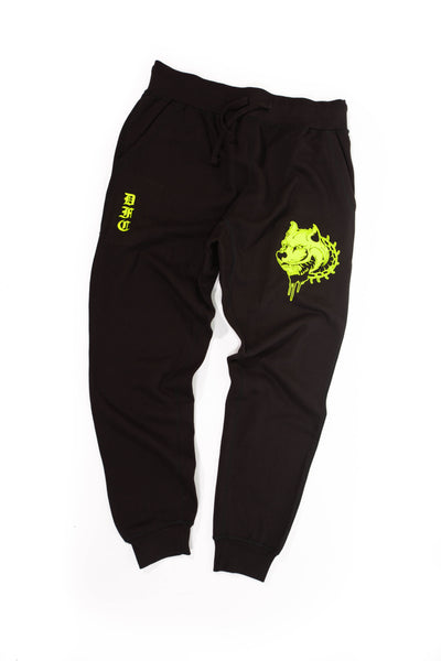 Black and Neon Sweats XL