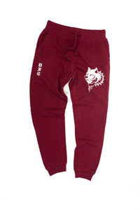 Maroon and White Sweats M