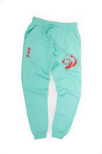 Mint and Red Sweats