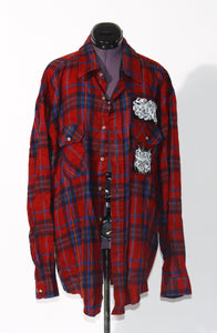 Deep Red Flannel