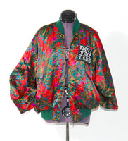 Rose and Paisley Silk Bomber