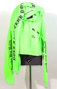 Psycho but Polite Neon Green 2 Piece Crop