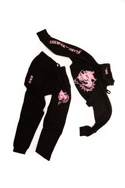 Black and Pink Crop L