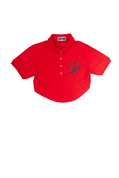 Red Polo Crop S