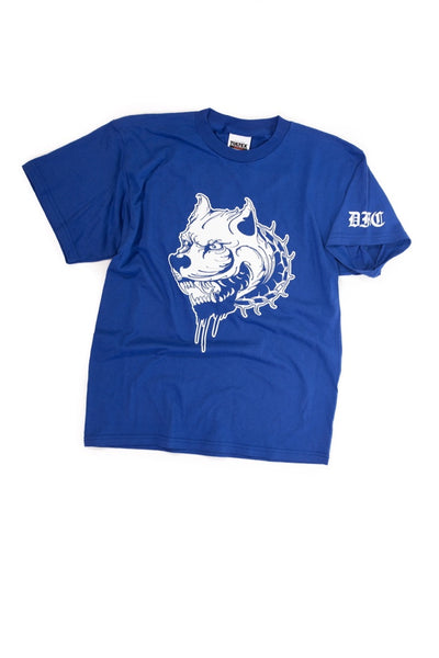 Blue and White Tee L
