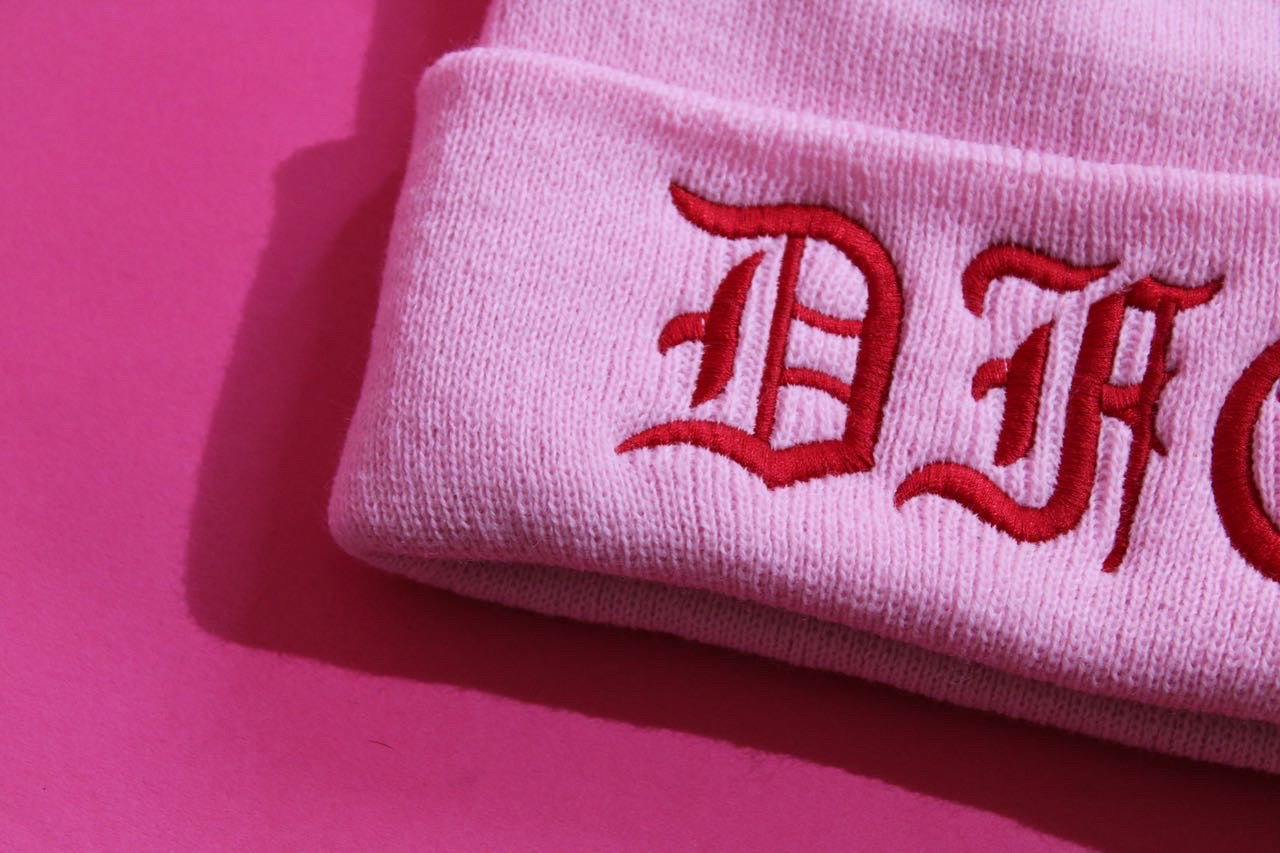 Red on Blush Beanie (pre order)