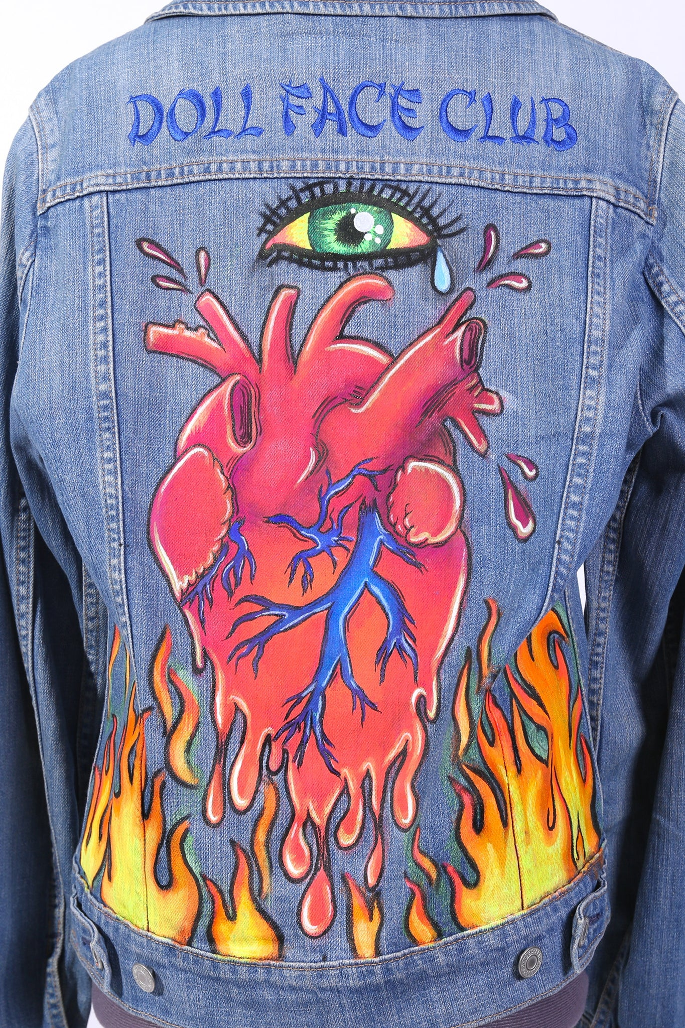 Burning Heart Jean