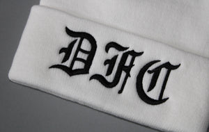 Black on White Beanie