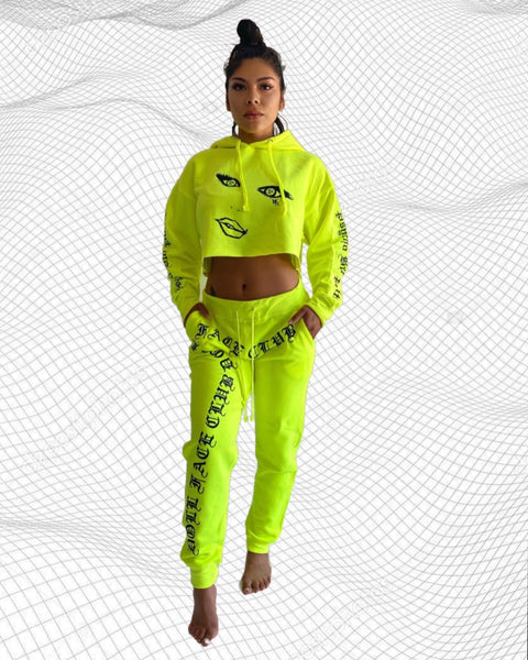 Neon Cropped 2 Piece