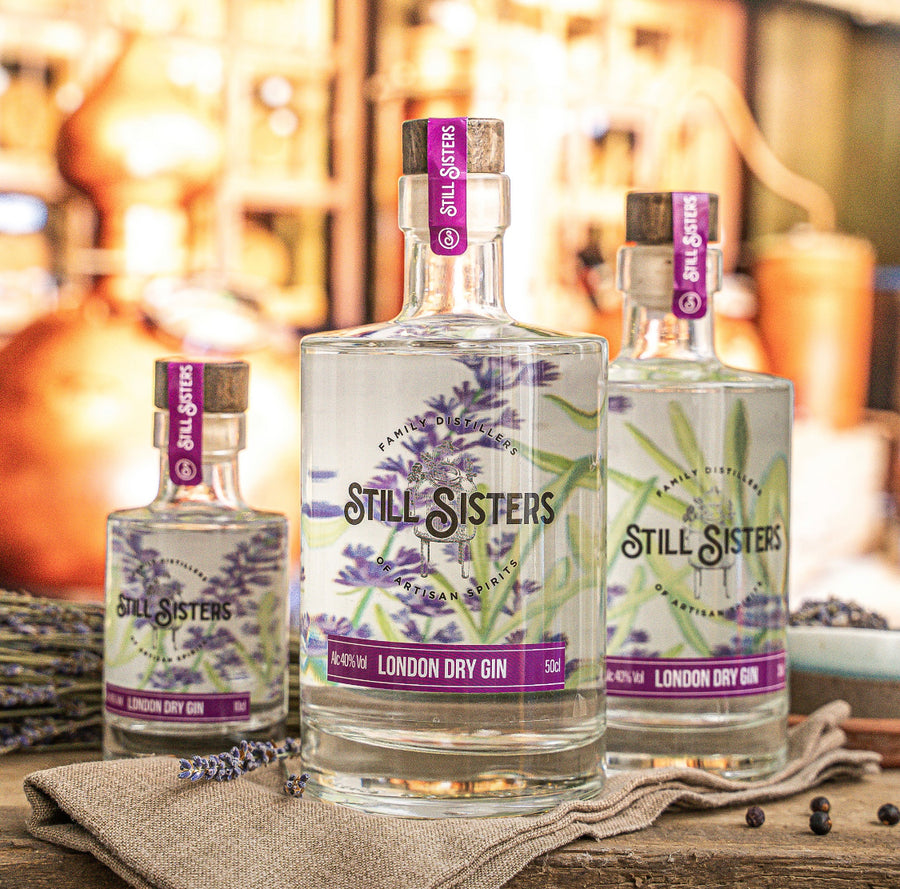 Lavender London Dry Gin Bottles