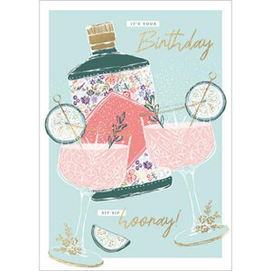 Greeting Card Sip Sip Away