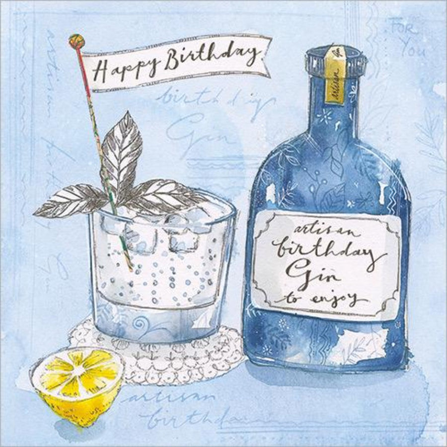 Greeting Card Birthday Gin