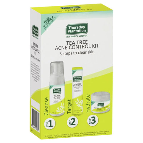 Tea tree Acne Control Kit 3 steps to clear skin ティーツリー3ステップキット Thursday Plantation