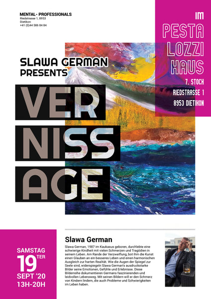 Einladung zur Vernissage «GermanART» - 19. September 2020, 13 - 20 Uhr
