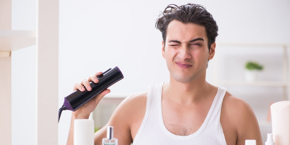 does blow drying cause an itchy scalp