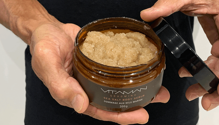 bacne body scrub exfoliating men