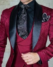 Item#24000 - Men's Single-Breasted Three-Piece Jacquard Tuxedo