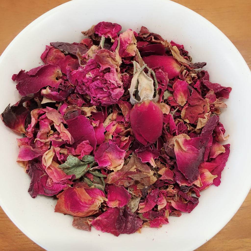 Organic Rose Bud & Petals ( Caffeine Free )( Herbal ) ( 14 grams )