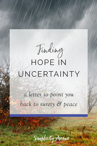 In the midst of uncertainty and devastation, it's easy to stay in the company of fear and despair. But now more than ever we need Hope and it's stabilizing strength and support.