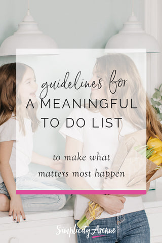 A simple list (what else) of unofficial guidelines for keeping a meaningful to do list...