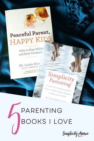 The parenting books that are helping me parent with purpose. #parentingbooks #intentionalparenting #simplicityavenue