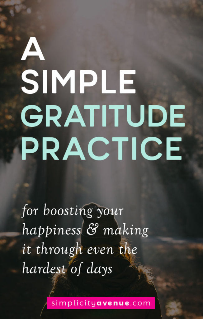 Gratitude is a good companion to have, through anytime in life, but especially hard times. This simple gratitude practice could be just what you need for the hard days.
