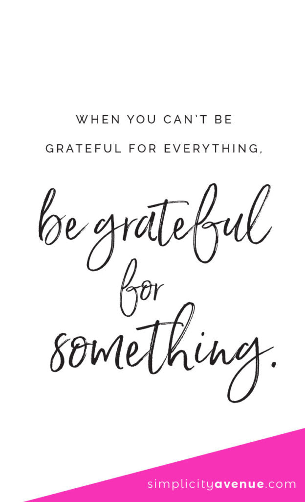 Having a hard time finding something to be grateful for? Here's one simple, heartfelt suggestion... Click to read the full article.