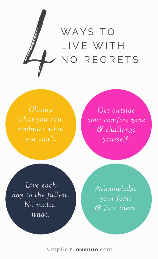 Intentional living almost always means trading easy and comfortable for hard and challenging. Here are 4 ways to be brave and live with no regrets. Click to read the full article.