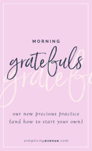 Here's how we're making our morning a little more meaningful. Plus 35 gratitude journal prompts for starting your own.