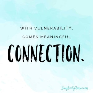 A lesson learned - from a complete stranger - on the power of vulnerability | by Anne at SimplicityAvenue.com