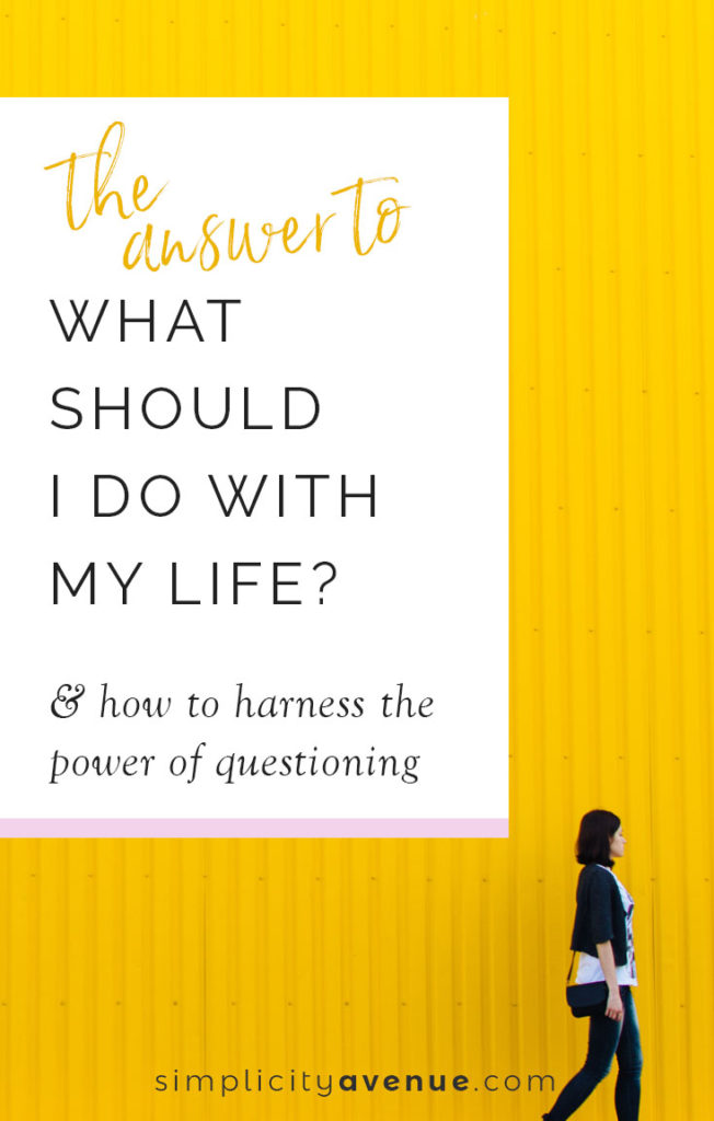 Not sure what you should do with your life? Finding your life's purpose and next step forward is as much about searching for the right questions, as much as the right direction. Here's where to start.