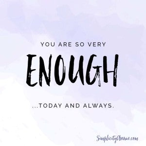 For you who are just hanging on by a thread, overwhelmed or not feeling like you're enough, this note of encouragement is for you. | by Anne at SimplicityAvenue.com