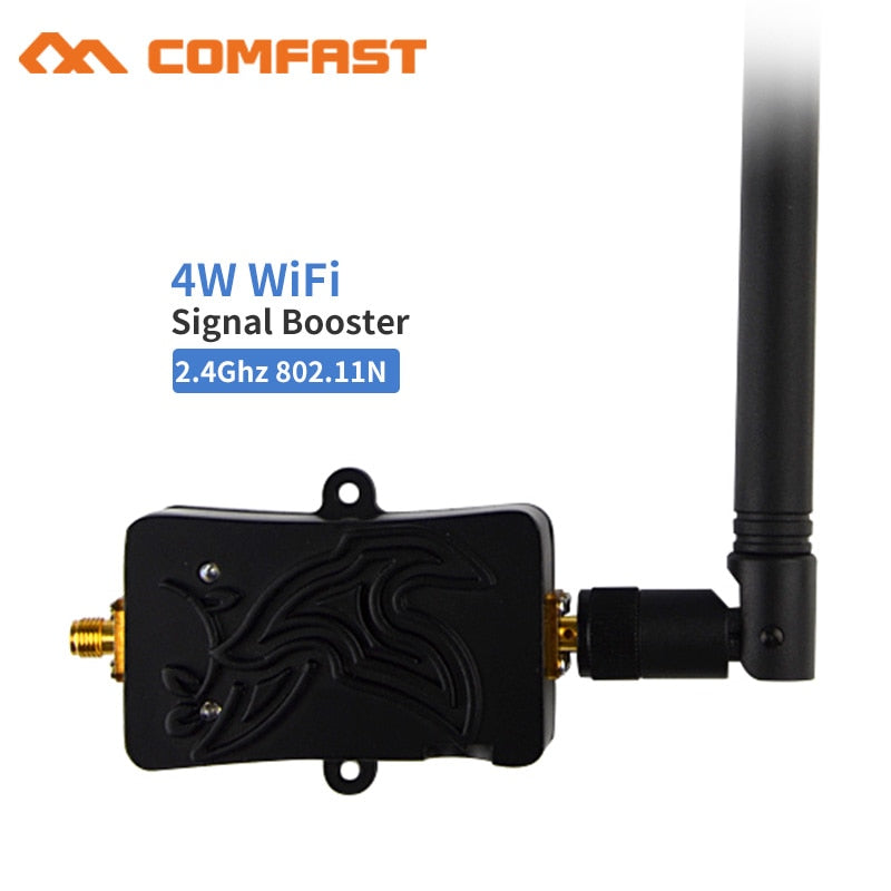 2.4Ghz 4W 802.11n Wireless Wifi Signal Booster Repeater Broadband Amplifiers 5dbi Wi fi Antenna for Wireless Router adapter