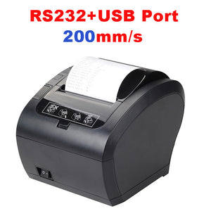 80mm Thermal Receipt Printer POS Printer USB Bluetooth Ethernet Port with Auto Cutter Support Android, iOS, Tablet iPad