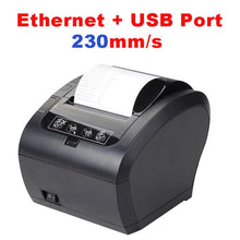 Load image into Gallery viewer, 80mm Thermal Receipt Printer POS Printer USB Bluetooth Ethernet Port with Auto Cutter Support Android, iOS, Tablet iPad