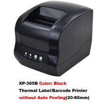 Load image into Gallery viewer, Xprinter Label Barcode Printer Thermal Receipt Printer Bar Code Printer 20mm-80mm XP-365B/XP-370B