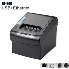 Load image into Gallery viewer, NT-806 80mm Thermal Receipt Printer Automatic cutter Restaurant Kitchen POS Printer USB+Serial+Ethernet Wifi Bluetooth NETUM