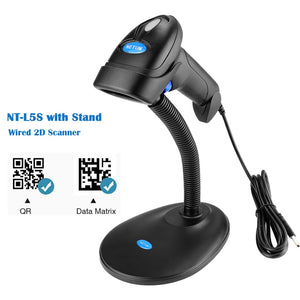 NETUM NT-L5 Wired 2D Barcode Scanner AND NT-L8 Wireless QR Bar code Reader PDF417 for Tobacco Garment mobile payment Industry