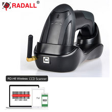 Load image into Gallery viewer, Automatic Wireless Barcode Scanner Wired 1D/2D QR Code Reader PDF417 32 Bit with Memory Bluetooth for IOS Android IPAD Inventory