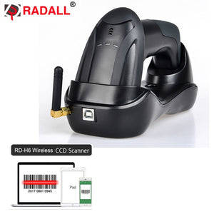 Automatic Wireless Barcode Scanner Wired 1D/2D QR Code Reader PDF417 32 Bit with Memory Bluetooth for IOS Android IPAD Inventory