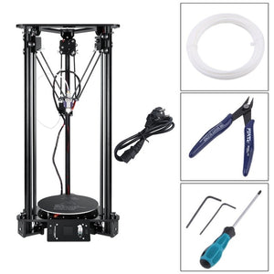 DE New T1 3D Printer High Speed Lcd Screen DIY Kit For Kossel Linear Delta Large Printing Size Easy To Assemble EU Plug