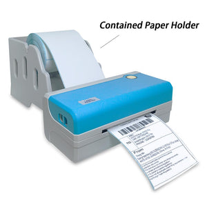 Milestone thermal printer label barcode sticker destop with holder USB windows mac PC 4 inch 108mm label printer