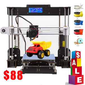 3D Printer A8 High Precision Black with CD+ Filaments Resume Power Failure Printing 3D Printer Parts